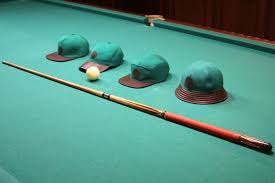 billiard tablecloth hats vintage caps
