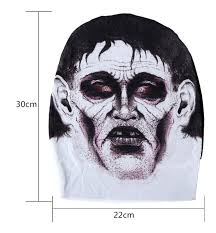 stretch net mask halloween skin tight tattoo full face masks