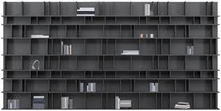 modular bookcase wall mounted contemporary wooden como by