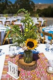 Log Centerpiece Ideas by Jayme U0026 Sondra U0027s Rustic Blended Family Wedding Log Centerpieces