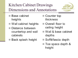 Objective Develop Plans For Kitchen Cabinets Ppt Download - Kitchen cabinet height