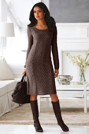 22 fall dresses to wear to work cable knit sweater dress cable