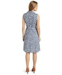 brooks brothers petite liberty print sleeveless dress in blue lyst