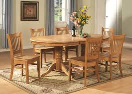 vancouver 9pc oval dinette dining table 8 wood chairs oak finish