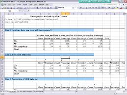 Exle Of Data Analysis Report by Office Documents Report 16 Demographic Analysis Excel