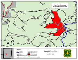 Fires In New Mexico Map by Inciweb The Incident Information System Kerr Fire Large Map
