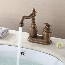 two kitchen faucet deck mounted single handle two holes with antique brass kitchen