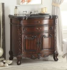 adelina 36 inch antique mahogany bathroom sink vanity