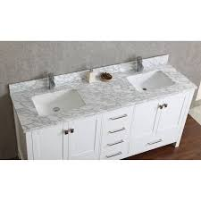 60 Bathroom Vanity Double Sink Buy Vincent 72 Inch Solid Wood Double Bathroom Vanity In White Hm