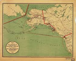 A Map Of Alaska by Print Of Map Of Alaska And A Portion Of The Territory Showing The