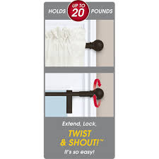 Curtain Rods U0026 Hardware Walmart by Twist And Shout Smart Curtain Rod Hardware Walmart Com