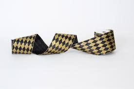black and gold ribbon black and gold harlequin satin ribbon the mardi gras collections