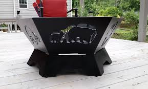 Personalized Fire Pit by Custom Hexagon Fire Pit Fire Pit