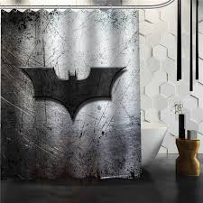 Custom Bathroom Shower Curtains Decorating Custom Classic Batman Logo Bathroom Waterproof Shower