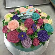 Tiffany Blue Flowers Tiffany Blue Buttercream Flowers Cake Cakecentral Com