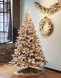 6ft pre lit flock pop up tree