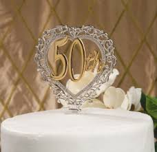 50th wedding anniversary cake toppers 50th wedding anniversary cakes