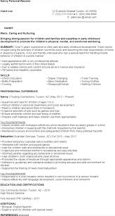 Sample Nanny Resume by Nanny Resume Skills Free Resume Example And Writing Download