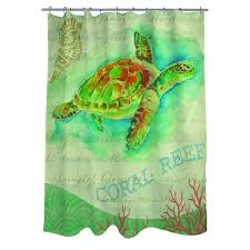 Sea Turtle Bathroom Accessories Salty Air Sea Turtle Shower Curtain Free Shipping Today