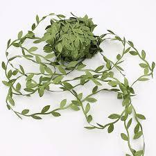 leaf ribbon green leaf ribbon vines ribbon leaf trim packaging ribbon gift