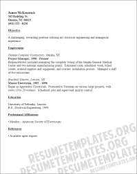 Electrician Resume Templates Master Resume Template 28 Images Business Administration