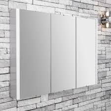 3 Door Mirrored Bathroom Cabinet by Premier Lux Bathroom Cabinet Nvm116 900mm White
