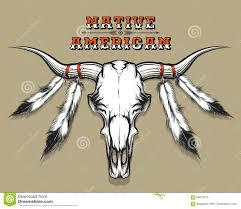 indian bull skull stock vector image 69978710