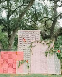 wedding altar backdrop bright textural wedding inspiration green wedding shoes