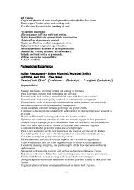 Cover Letter For Cook Resume Chinese Chef Cover Letter
