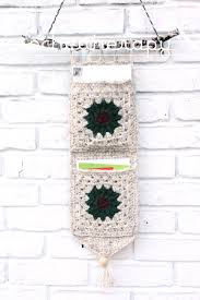 free crochet wall organizer pattern crochet christmas card holder