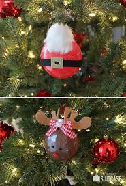 rudolph santa painted ornaments my s suitcase packed