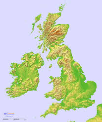 Topographic Map Of Europe by Topographic Hillshade Map Of Great Britain And Ireland 1872 2232