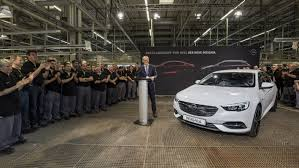 opel insignia 2017 white production start for opel flagship the new insignia