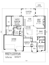 One Story 4 Bedroom House Plans by Tuscan House Floor Plans Single Story 3 Bedroom 2 Bath 2 Car