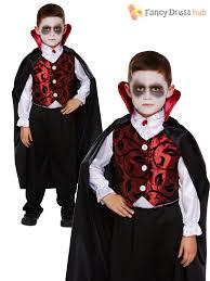 Vampire Costume Childrens Deluxe Vampire Costume Boys Dracula Halloween Fancy