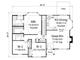 Single Story Ranch Style House Plans Ranch Style House Plan 3 Beds 2 00 Baths 1308 Sq Ft Plan 57 609