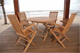 Folding Patio Furniture Set by 20 Teak Patio Table And Chairs Electrohome Info