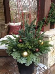Outdoor Christmas Decorations Urns by 5th And State Winter Containers 2013