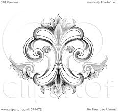 Victorian Design Clipart Black And White Engraved Victorian Floral Design Element