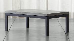 small rectangular end table parsons concrete top dark steel base 48x28 small rectangular coffee