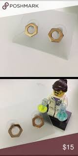 chemist earrings golden chemist ring set rings on rings chemist