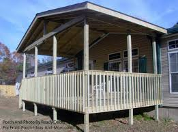 How To Build A Awning Over A Deck Porch Designs For Mobile Homes Mobile Home Porches Porch Ideas