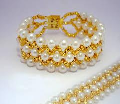 easy pearl bracelet images Free pattern for beautiful beaded bracelet france beads magic jpg