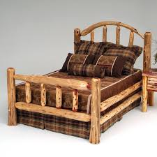 Cheap Log Bed Frames Rustic Cedar Log Bed