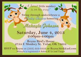 baby shower monkey monkey baby shower invitations kustom kreations
