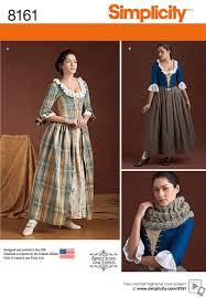 Simplicity Halloween Costumes Simplicity Simplicity Pattern 8161 Misses U0027 18th Century Costumes