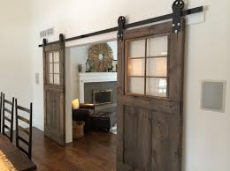 Vintage Interior Door Hardware Vintage Custom Sliding Barn Door With Windows By Goodfromwood