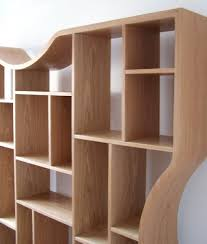 Wooden Bedside Bookcase Shelving Display Contemporary Furniture Curved Shelves Coffee Tables Tv Units