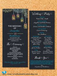 chalkboard wedding program template 22 best diy wedding program templates images on