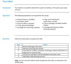 information mapping taco salad the information mapping way information mapping